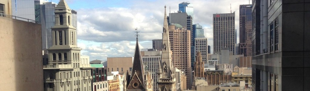 View from city centre Melbourne